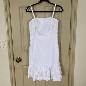 Banana Republic White Pleated Dress